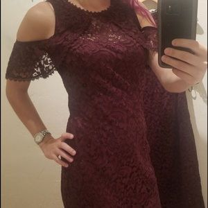 Women's special occasion lace plum dress- SOLD